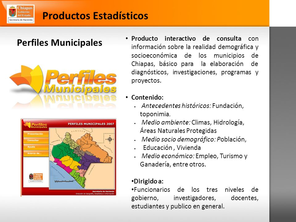 Productos Estadísticos