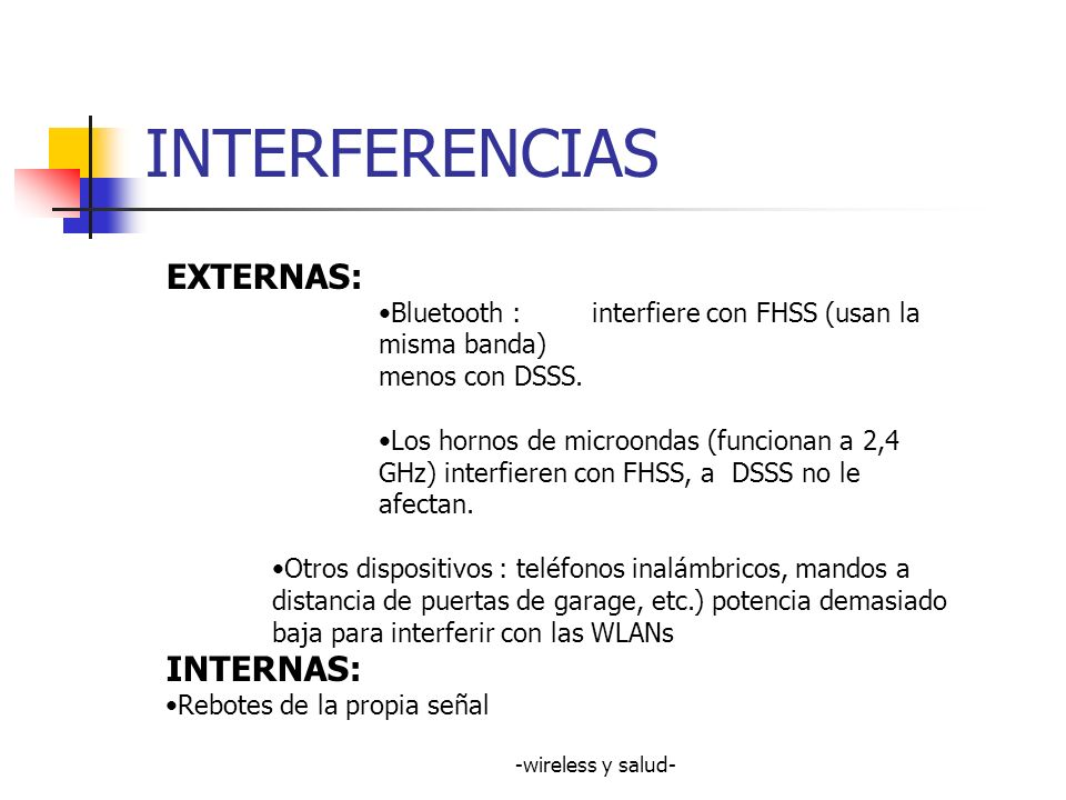 INTERFERENCIAS EXTERNAS: INTERNAS: