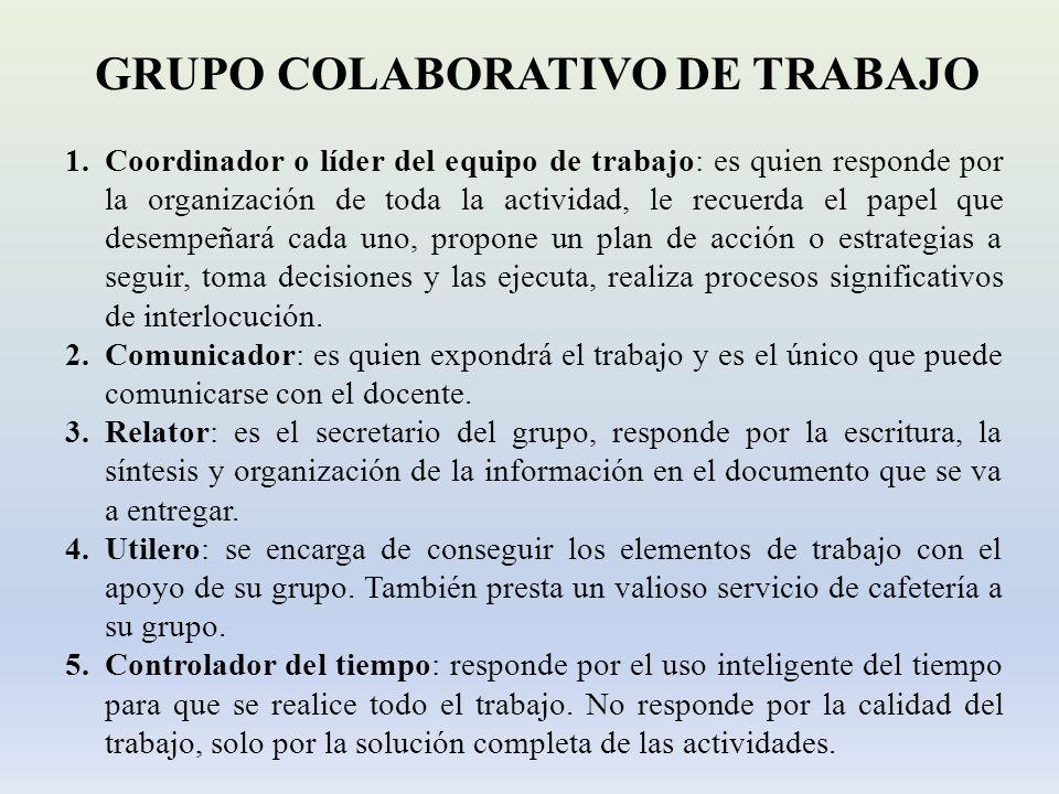 GRUPO COLABORATIVO DE TRABAJO