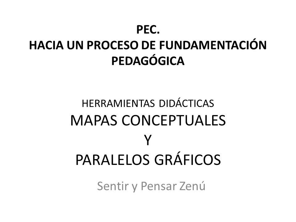 PEC. HACIA UN PROCESO DE FUNDAMENTACIÓN PEDAGÓGICA HERRAMIENTAS DIDÁCTICAS MAPAS CONCEPTUALES Y PARALELOS GRÁFICOS