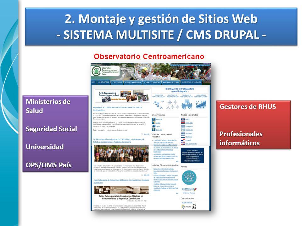 2. Montaje y gestión de Sitios Web - SISTEMA MULTISITE / CMS DRUPAL -
