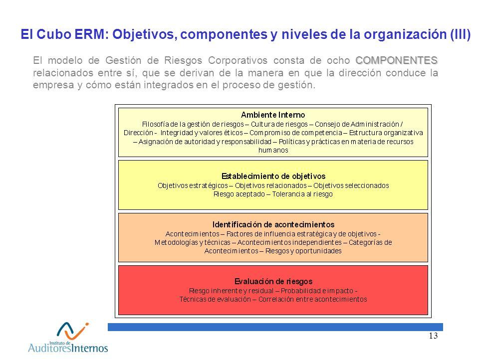 El Cubo ERM: Objetivos, componentes y niveles de la organización (III)
