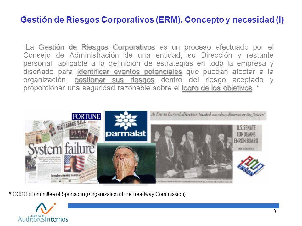 Gestión de Riesgos Corporativos (ERM). Concepto y necesidad (I)