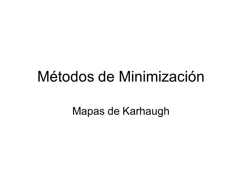 Métodos de Minimización