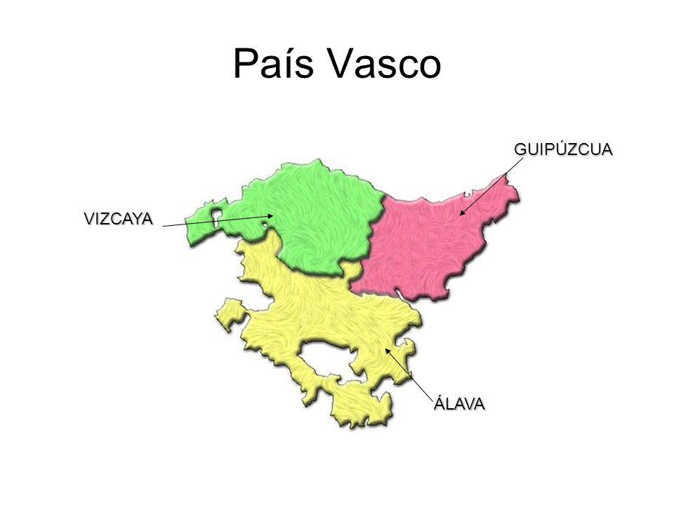 País Vasco GUIPÚZCUA VIZCAYA ÁLAVA