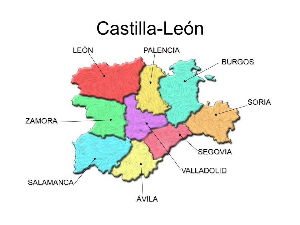 Castilla-León LEÓN PALENCIA BURGOS SORIA ZAMORA SEGOVIA VALLADOLID