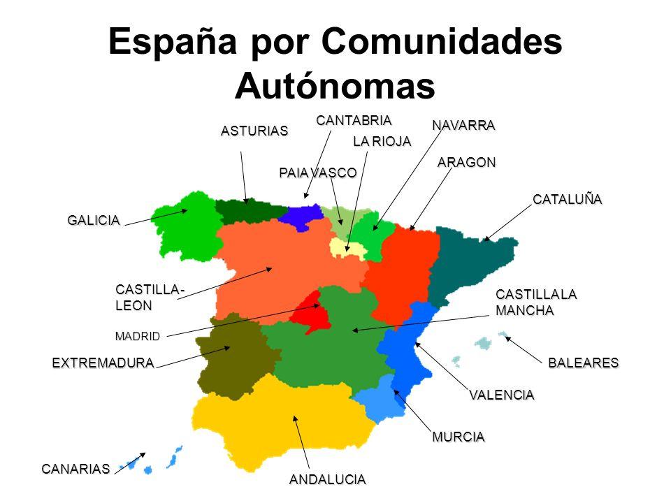 España por Comunidades Autónomas