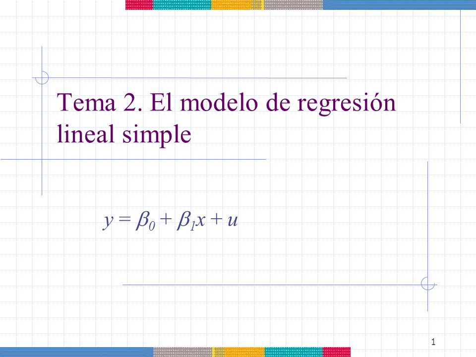 Tema 2. El modelo de regresión lineal simple