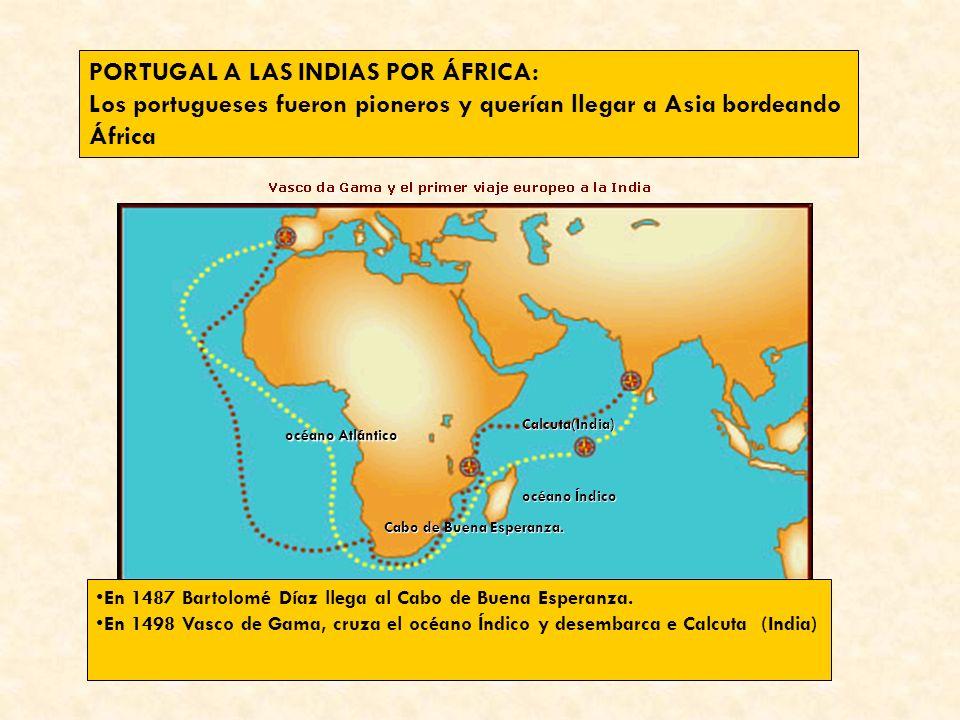 PORTUGAL A LAS INDIAS POR ÁFRICA:
