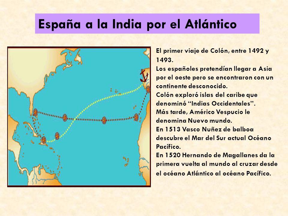 España a la India por el Atlántico