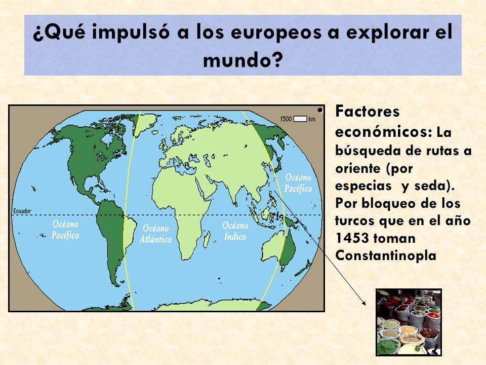 ¿Qué impulsó a los europeos a explorar el mundo