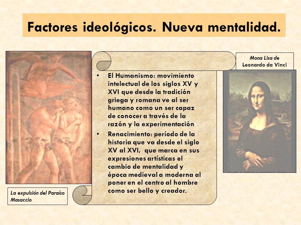 Factores ideológicos. Nueva mentalidad.