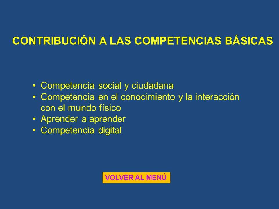 CONTRIBUCIÓN A LAS COMPETENCIAS BÁSICAS
