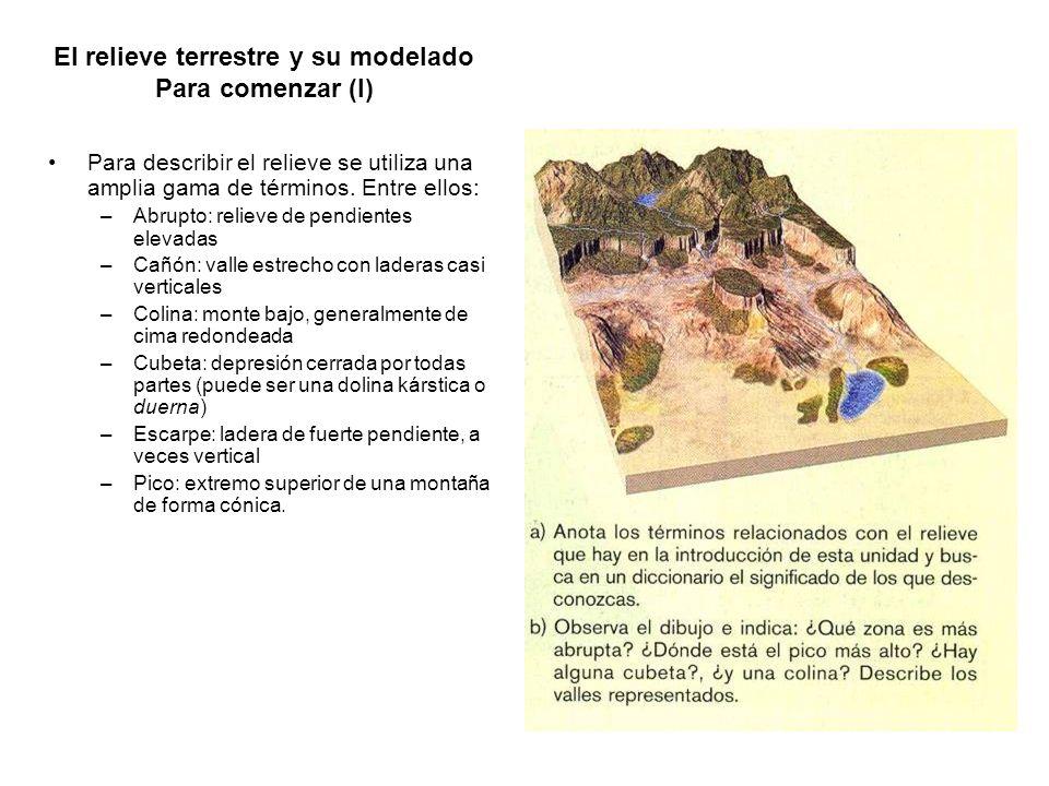 El relieve terrestre y su modelado Para comenzar (I)