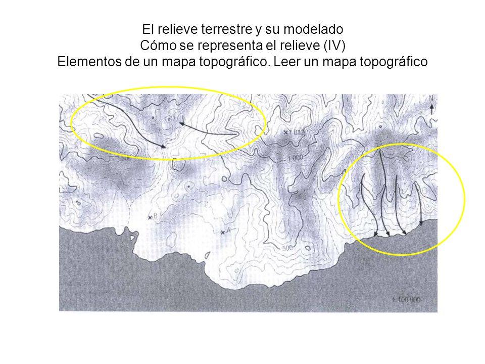 El relieve terrestre y su modelado Cómo se representa el relieve (IV) Elementos de un mapa topográfico.