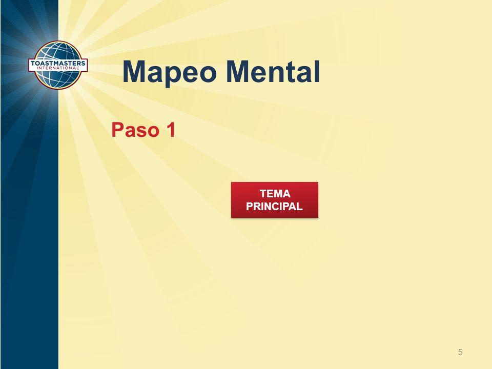 Mapeo Mental Paso 1 TEMA PRINCIPAL