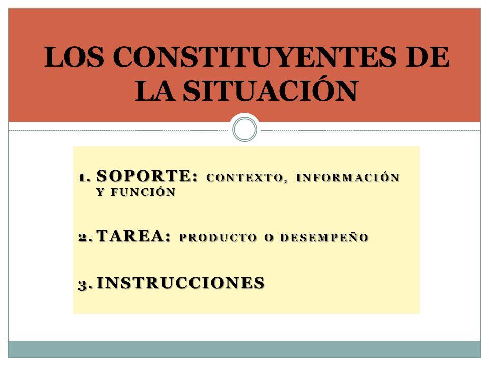LOS CONSTITUYENTES DE LA SITUACIÓN