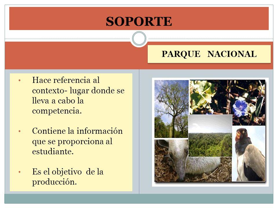 SOPORTE PARQUE NACIONAL
