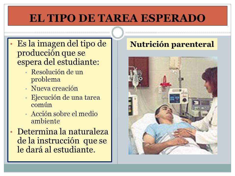 EL TIPO DE TAREA ESPERADO