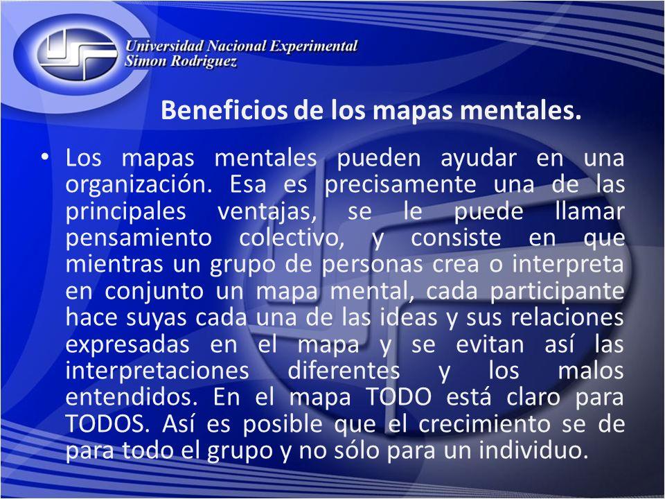Beneficios de los mapas mentales.