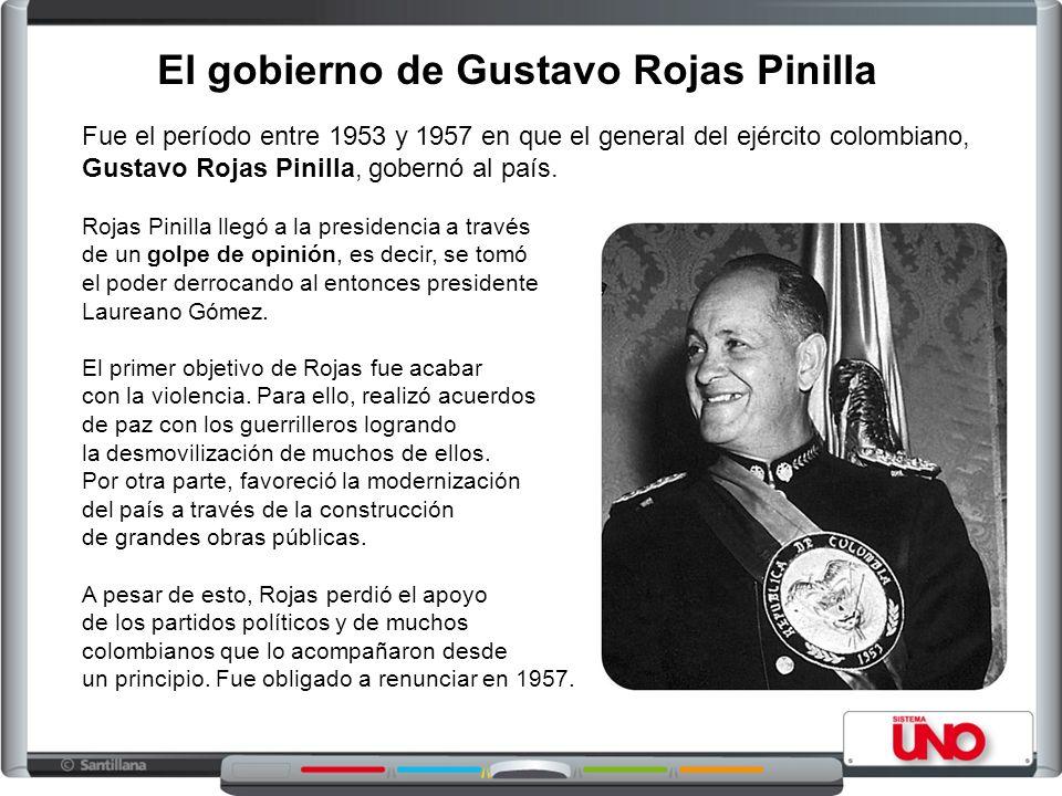 El gobierno de Gustavo Rojas Pinilla