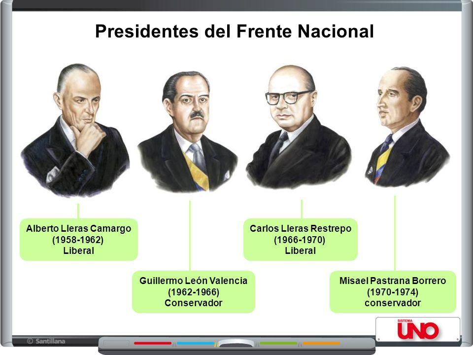 Presidentes del Frente Nacional