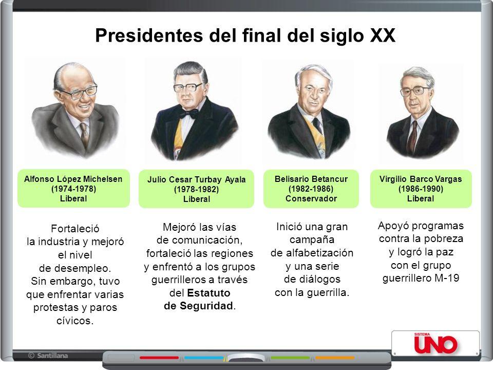 Presidentes del final del siglo XX