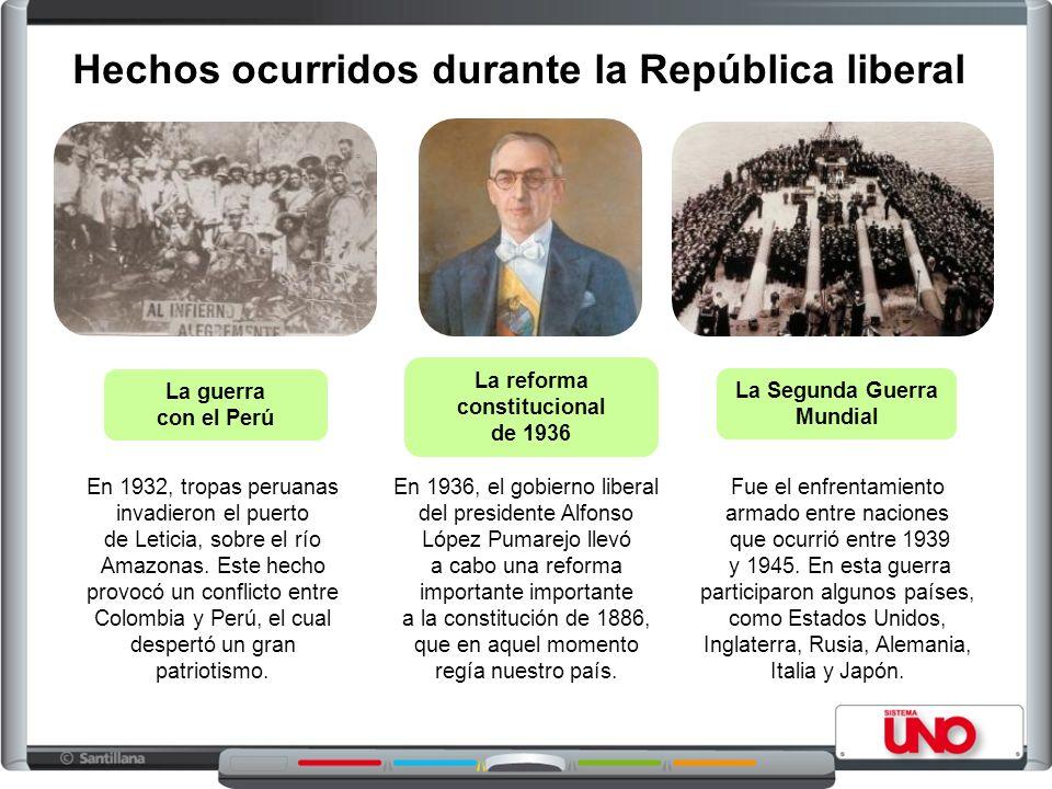 Hechos ocurridos durante la República liberal