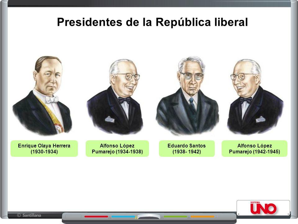 Presidentes de la República liberal