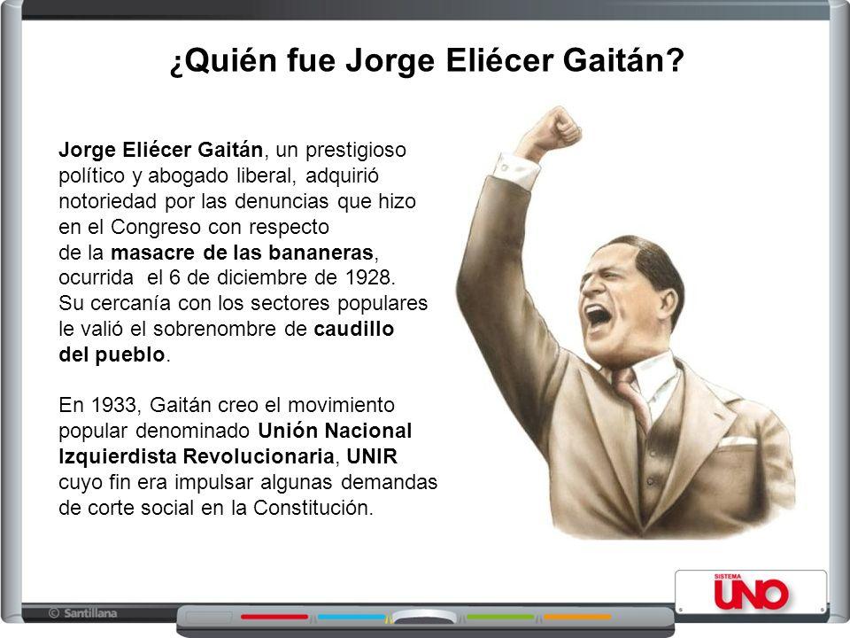 ¿Quién fue Jorge Eliécer Gaitán