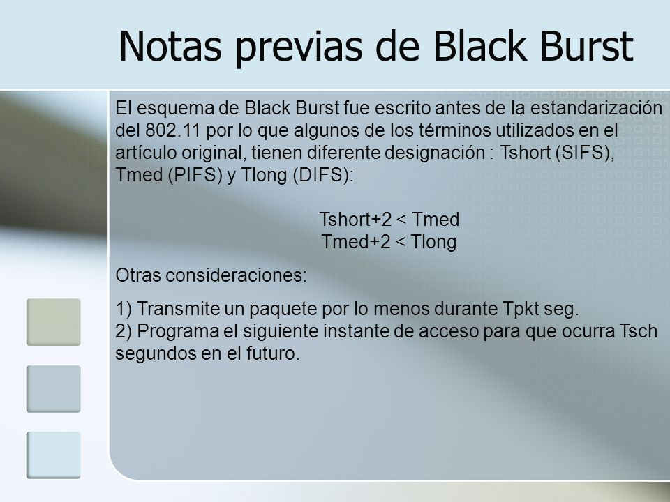 Notas previas de Black Burst