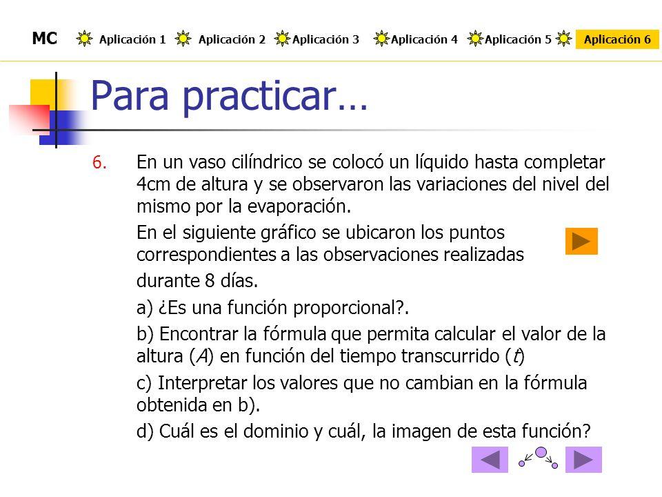 Para practicar… MC. Aplicación 1. Aplicación 2. Aplicación 3. Aplicación 4. Aplicación 5. Aplicación 6.