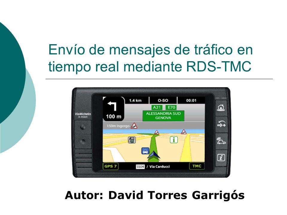 Envío de mensajes de tráfico en tiempo real mediante RDS-TMC