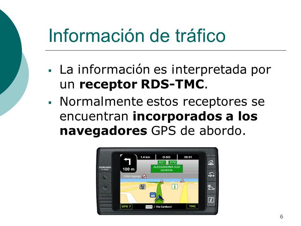 Información de tráfico