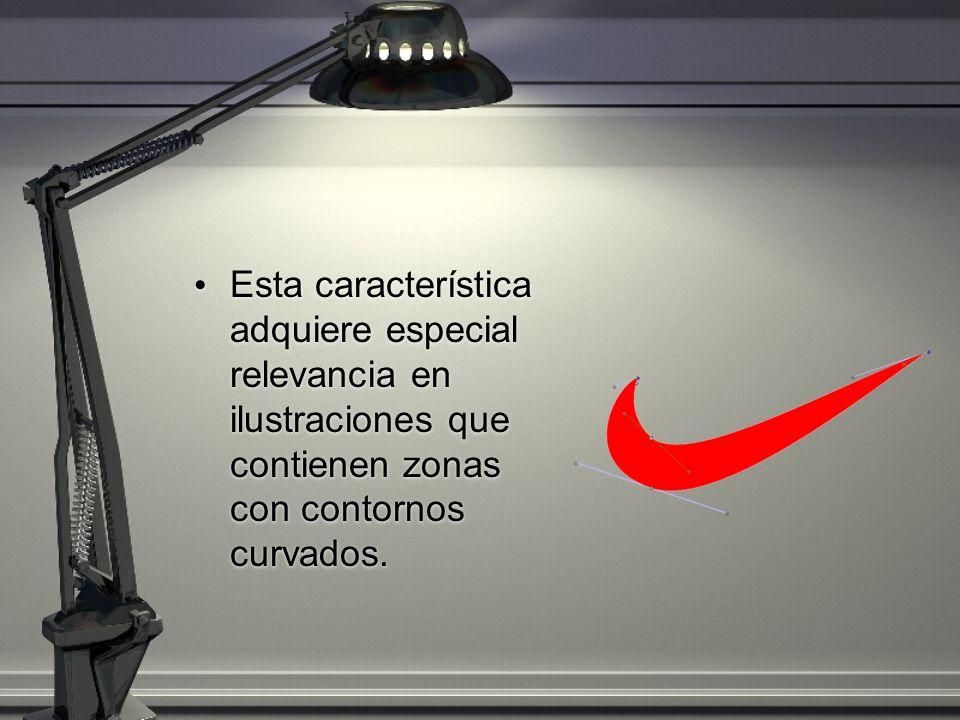 Esta característica adquiere especial relevancia en ilustraciones que contienen zonas con contornos curvados.
