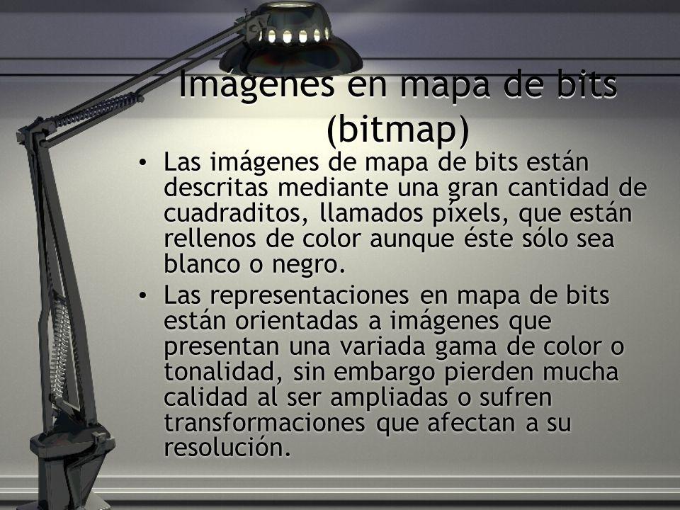 Imágenes en mapa de bits (bitmap)