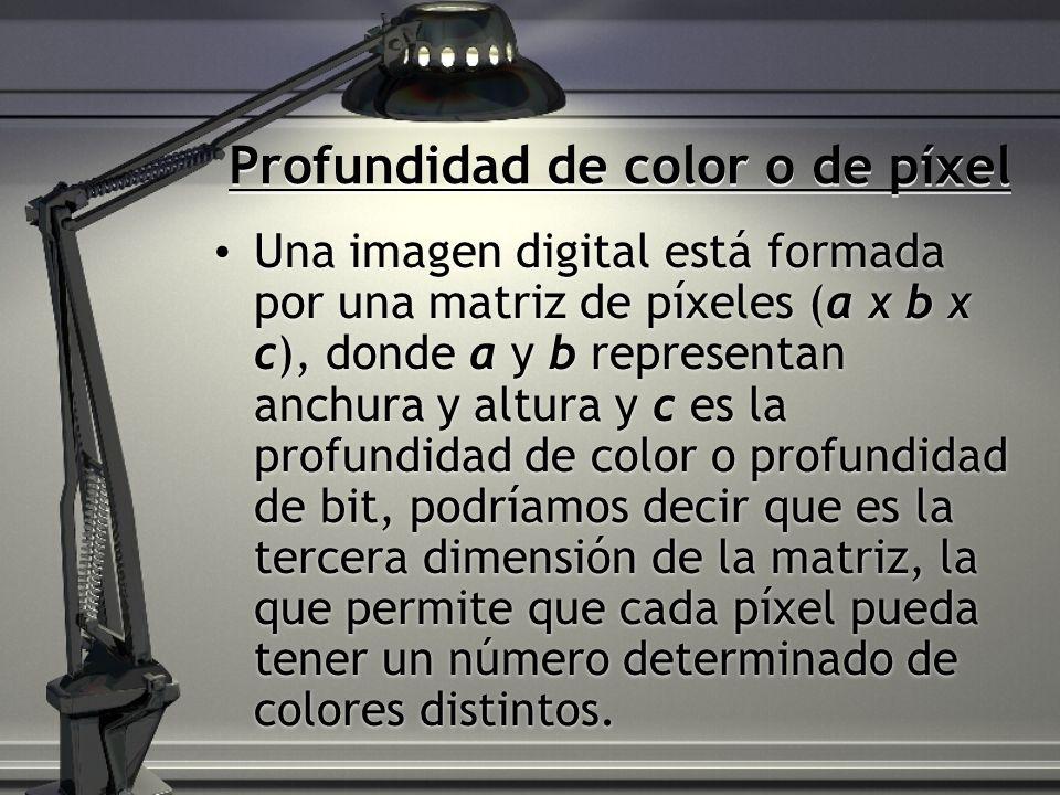 Profundidad de color o de píxel