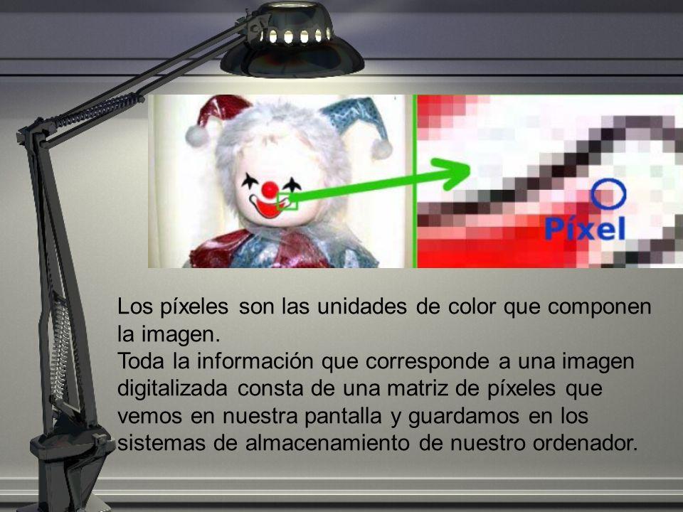 Los píxeles son las unidades de color que componen