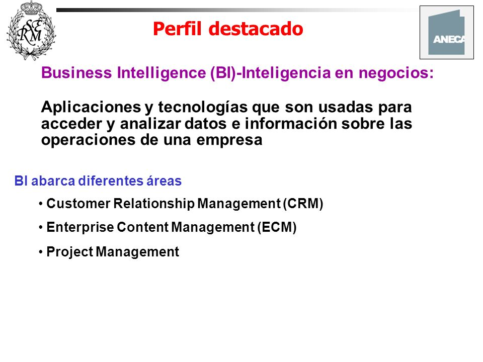 Perfil destacado Business Intelligence (BI)-Inteligencia en negocios: