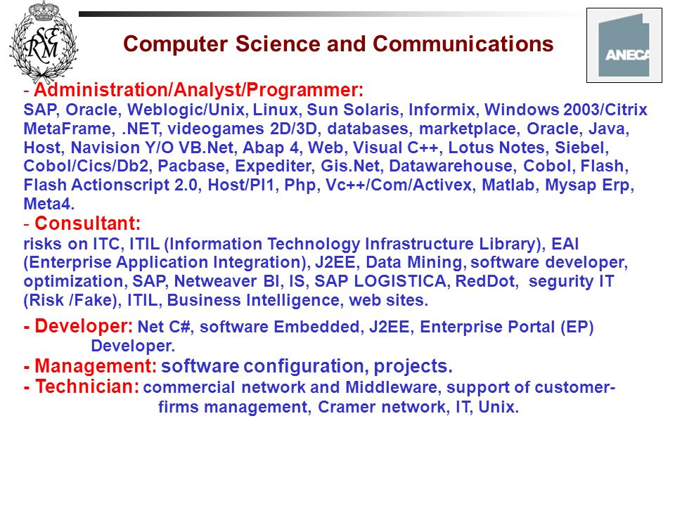 Computer Science and Communications