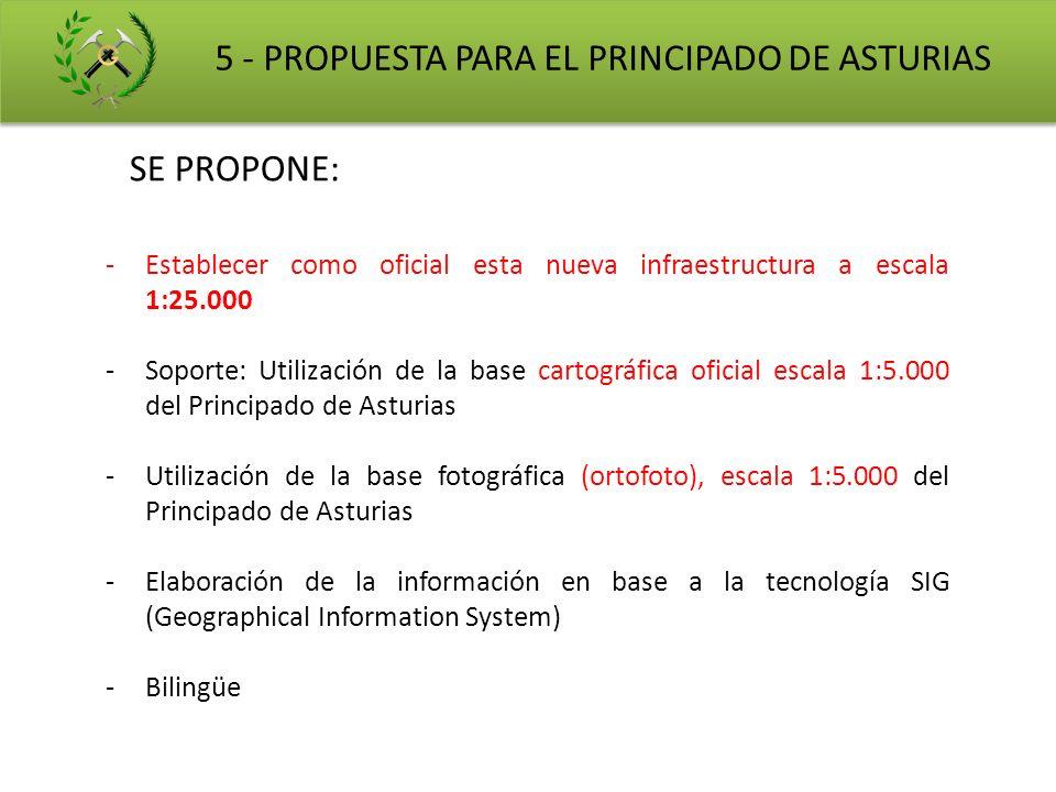 5 - PROPUESTA PARA EL PRINCIPADO DE ASTURIAS