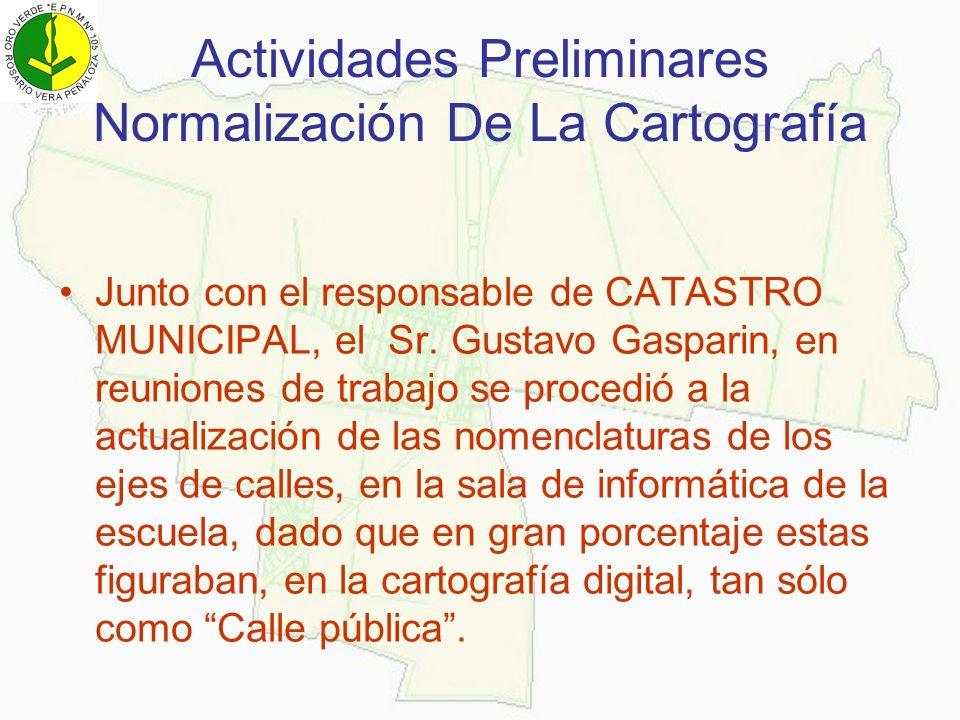 Actividades Preliminares Normalización De La Cartografía