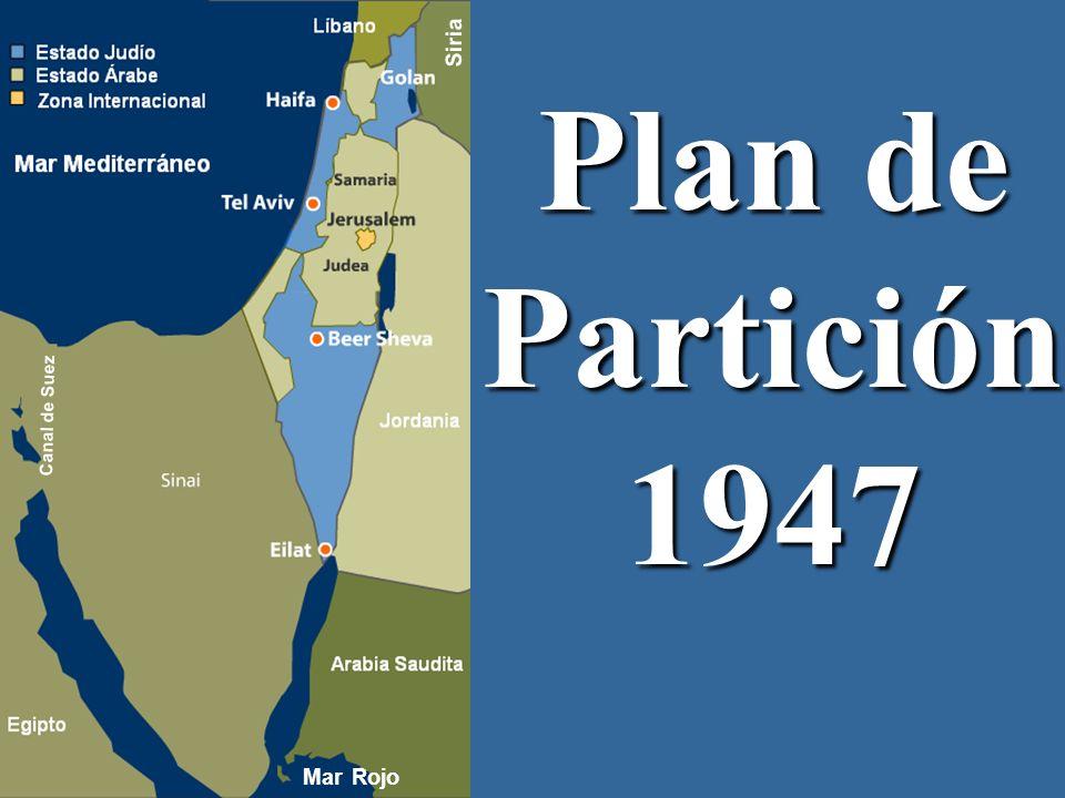 Siria Plan de Partición 1947 Canal de Suez Mar Rojo