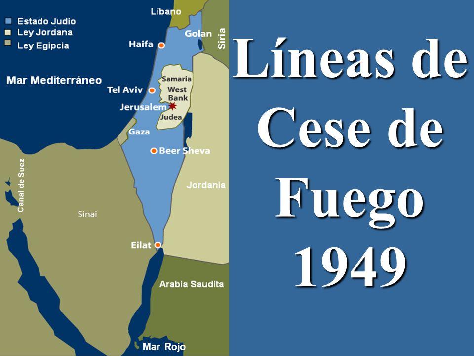 Siria Siria Líneas de Cese de Fuego 1949 Canal de Suez Mar Rojo