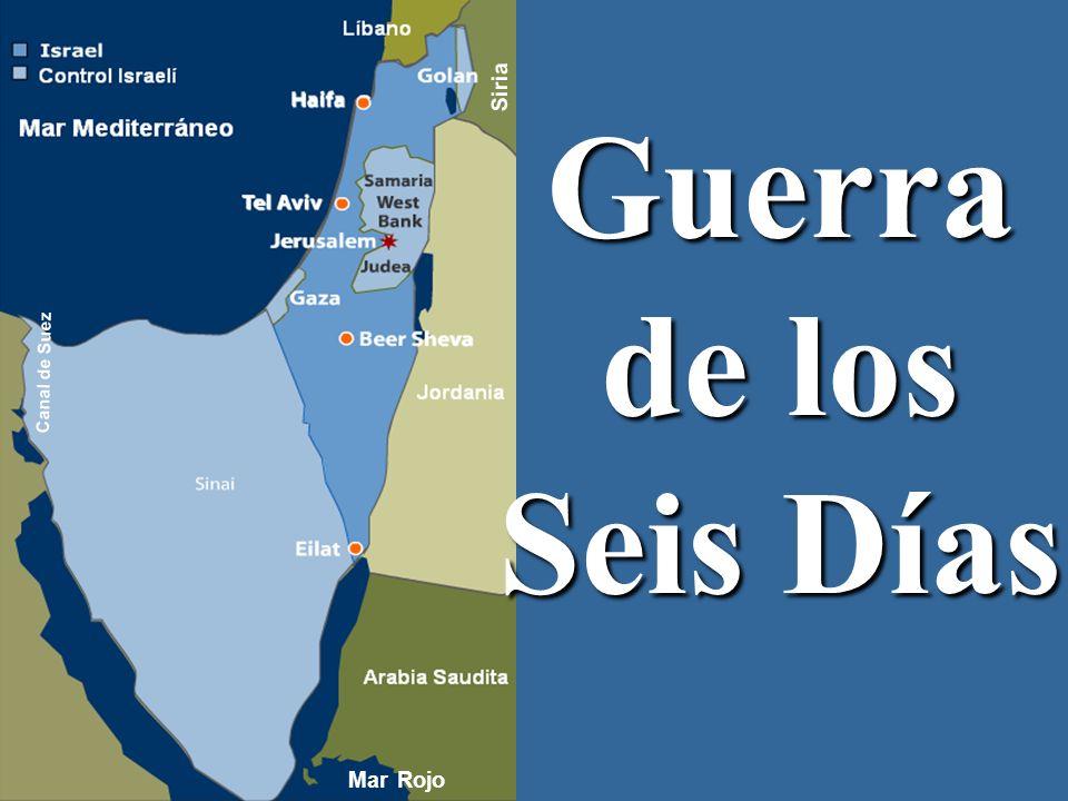 Siria Guerra de los Seis Días Canal de Suez Mar Rojo