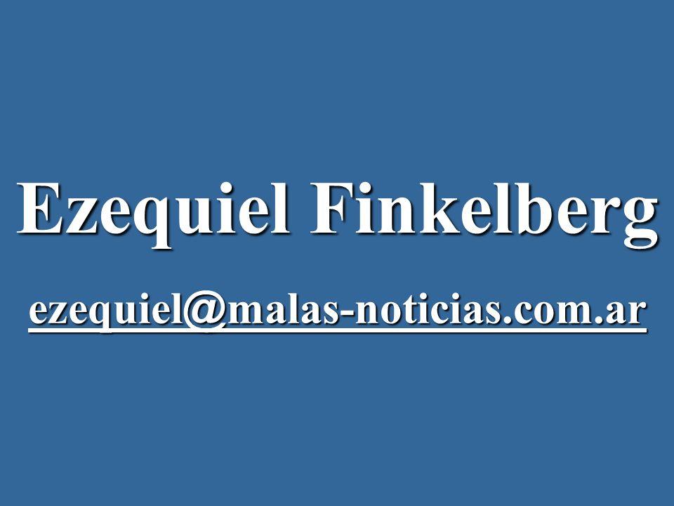 Ezequiel Finkelberg ezequiel@malas-noticias.com.ar