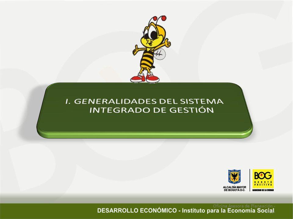 I. GENERALIDADES DEL SISTEMA INTEGRADO DE GESTIÓN