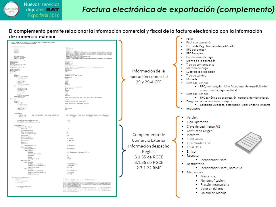 Factura electr nica en operaciones de comercio exterior for Concepto de exterior