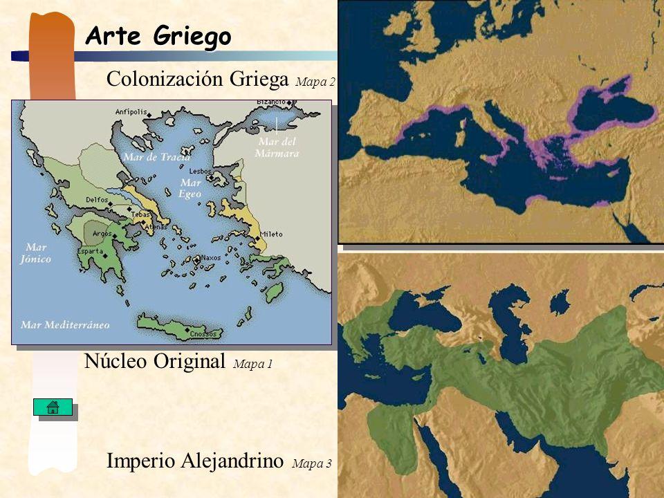 Arte Griego Colonización Griega Mapa 2 Núcleo Original Mapa 1
