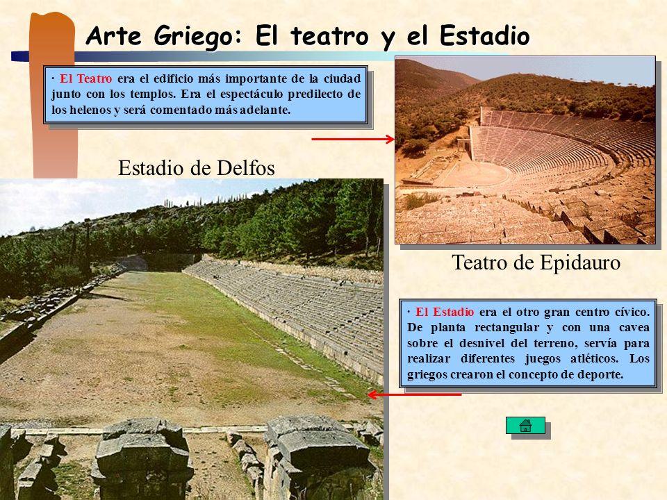 Arte Griego: El teatro y el Estadio